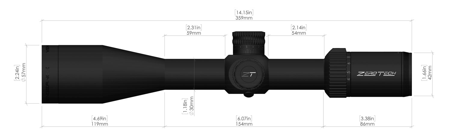 4-20X50mm Vengeance Illuminated PHR-II Riflescope
